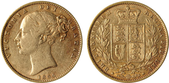 Great Britain, Victoria, Sovereign, 1854