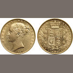 Great Britain, Victoria, Sovereign, 1857