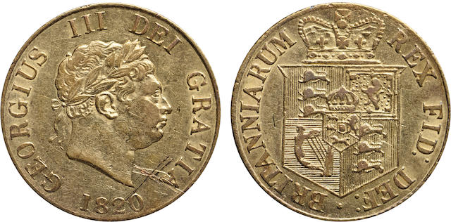 Great Britain, George III, 1/2 Sovereign, 1820