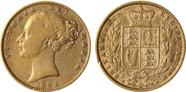 Great Britain, Victoria, Sovereign, 1862