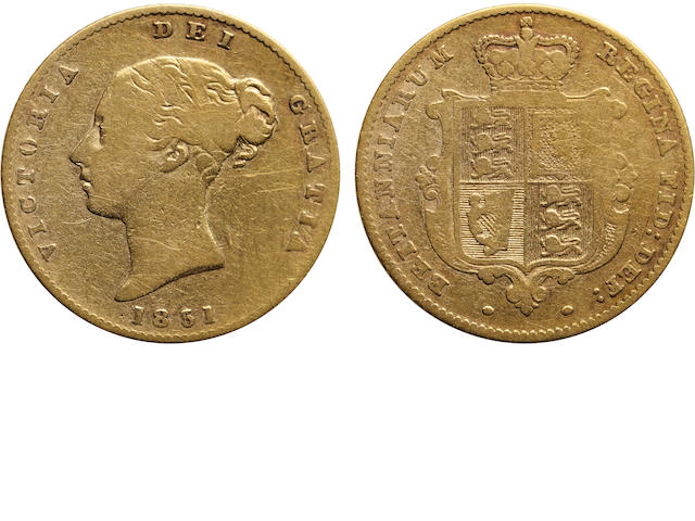Great Britain, Victoria, 1/2 Sovereign, 1851
