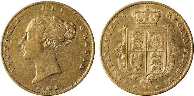 Great Britain, Victoria, 1/2 Sovereign, 1855