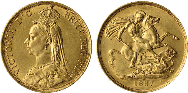 Great Britain, Victoria, 2 Pounds, 1887