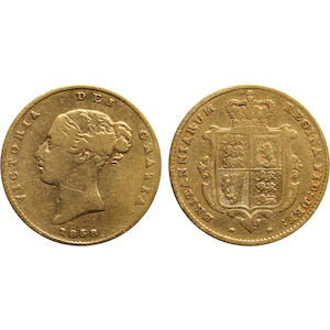 Great Britain, Victoria, 1/2 Sovereign, 1858