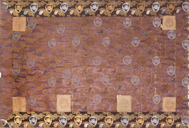 A Japanese brocade textile panel