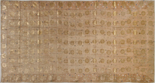 A Japanese brocade textile panel, 19th Century