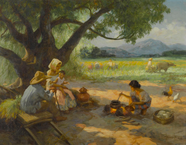 Fernando Amorsolo Y Cueto (The Philippines 1892-1972 Noonday Meal