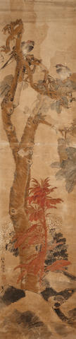Ren Yi (1840-1896) Birds and autumn flowers
