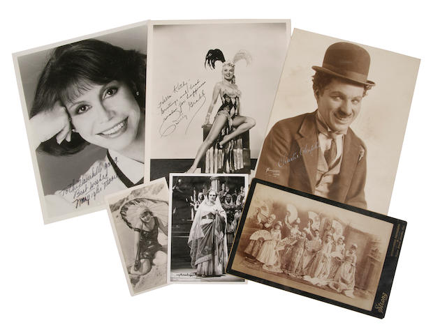 A collection of 157 photographs of 20th-Century actresses, actors and performers