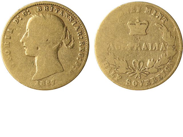 Australia, Victoria, 1/2 Sovereign, 1857
