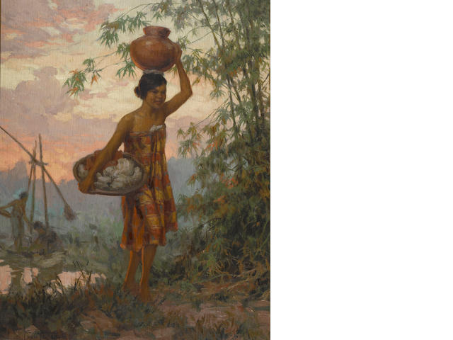 Fernando Amorsolo Y Cueto (The Philippines 1892-1972) Lavandera