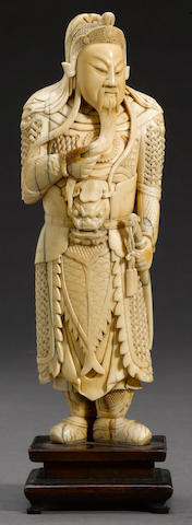 An ivory carving of Guan Yu 19th century