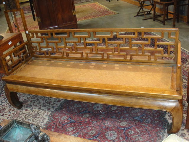 A huaghuali and mixed hardwood kang Late 20th century
