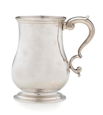 An American silver cann  Samuel Minott, Boston, circe 1780