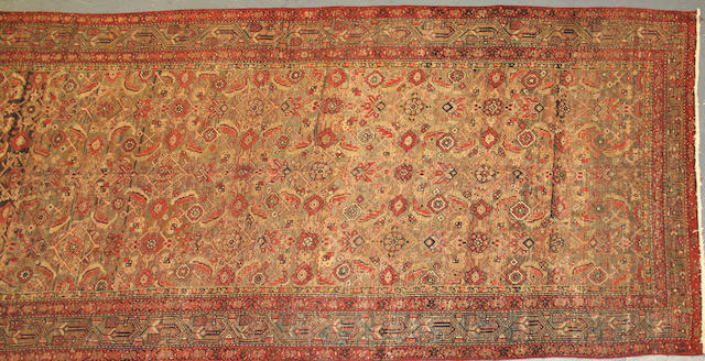 A Malayer Runner size approximately 5ft. 3in. x 13ft. 1in.