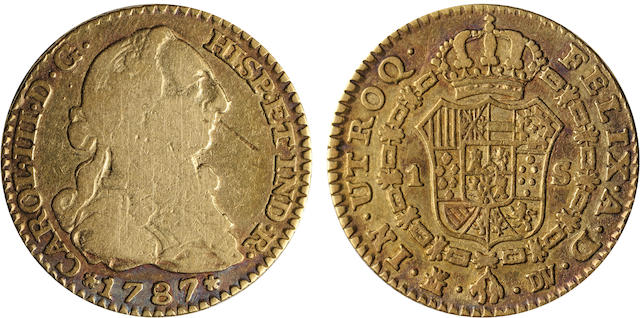 Spain, Charles III, 1 Escudo, 1787-DV, Madrid