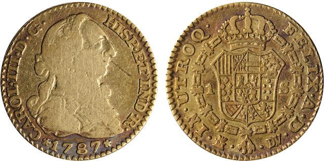Spain, Charles III, 1 Escudo, 1787-DV, Madrid