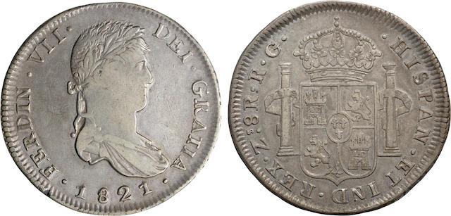 Mexico, Ferdinand VII, 8 Reales, 1821-RG, Zacatecas