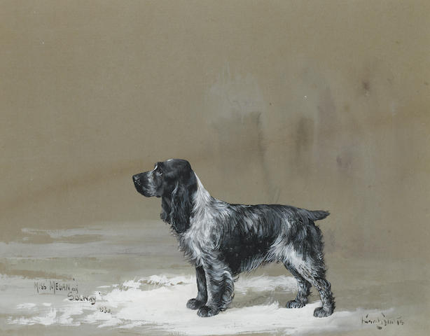 Reuben Ward Binks (British, 1880-1950) Miss Megan of Solway: An English Cocker Spaniel 9 7/8 x 12 3/8 in. (25 x 31.5 cm.)