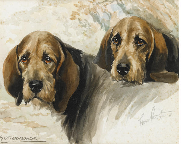 Reuben Ward Binks (British, 1880-1940) Otterhounds