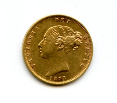 Great Britain, Victoria, 1/2 Sovereign, 1873