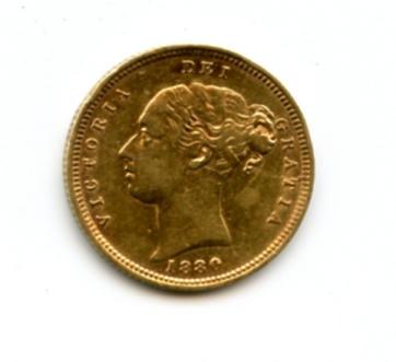 Great Britain, Victoria, 1/2 Sovereign, 1880