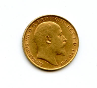 Great Britain, Edward VII, 1/2 Sovereign, 1910