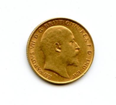 Great Britain, Edward VII, 1/2 Sovereign, 1910