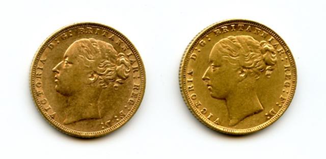 Great Britain, Victoria, Sovereign, 1872 (2)