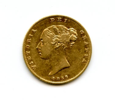 Great Britain, Victoria, 1/2 Sovereign, 1855