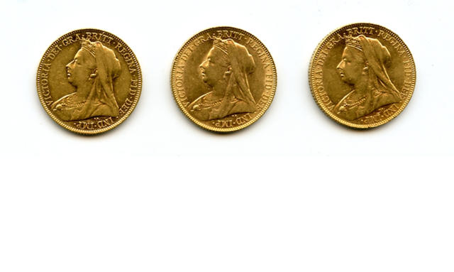 Great Britain, Victoria, Sovereign, 1900 (3)