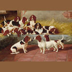 Valentine Thomas Garland (British, fl.1884-1903) A pack of Basset Hounds