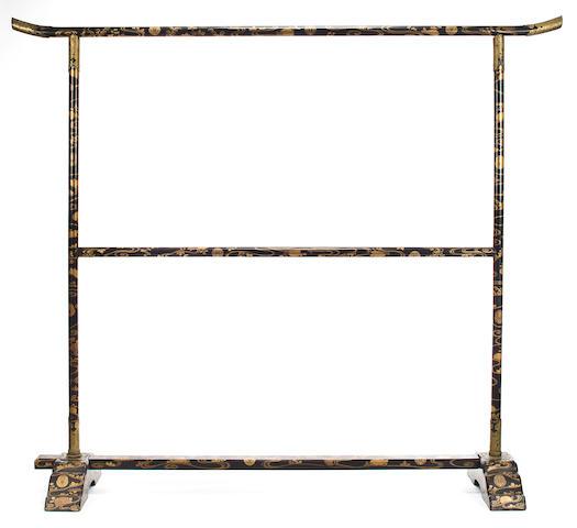 A lacquer kimono rack 19th century