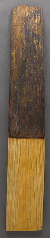 An official's ivory rank stick, gui Ming dynasty, with lacquer embellishments