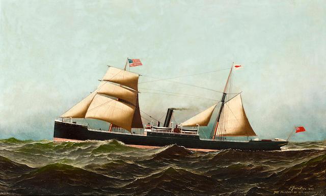 "(n/a) Antonio Nicolo Gasparo  Jacobsen (American, 1850-1921), Steam Crew ""Crane"""