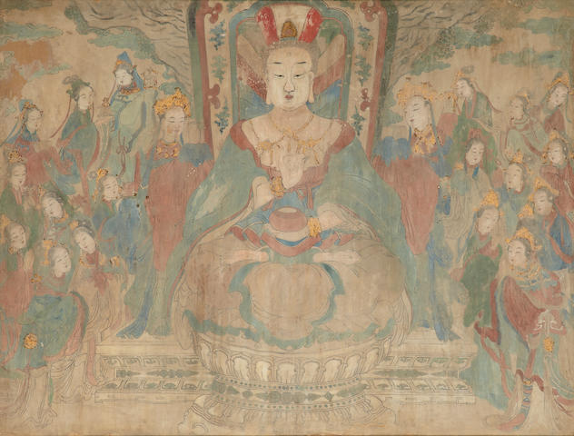 Anonymous (18th/19th century) A Buddhist fresco
