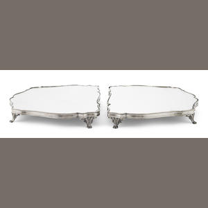 A French  silverplate two-part surtout de table Christofle, Paris,  late 19th / early 20th century