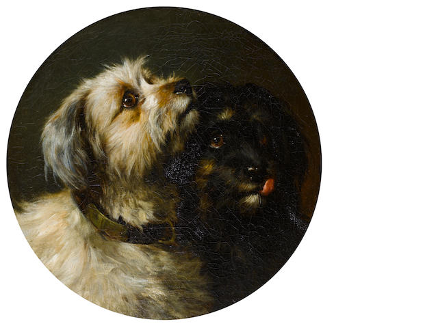 Thomas Earl (British, active circa 1824-1831) Two Terriers