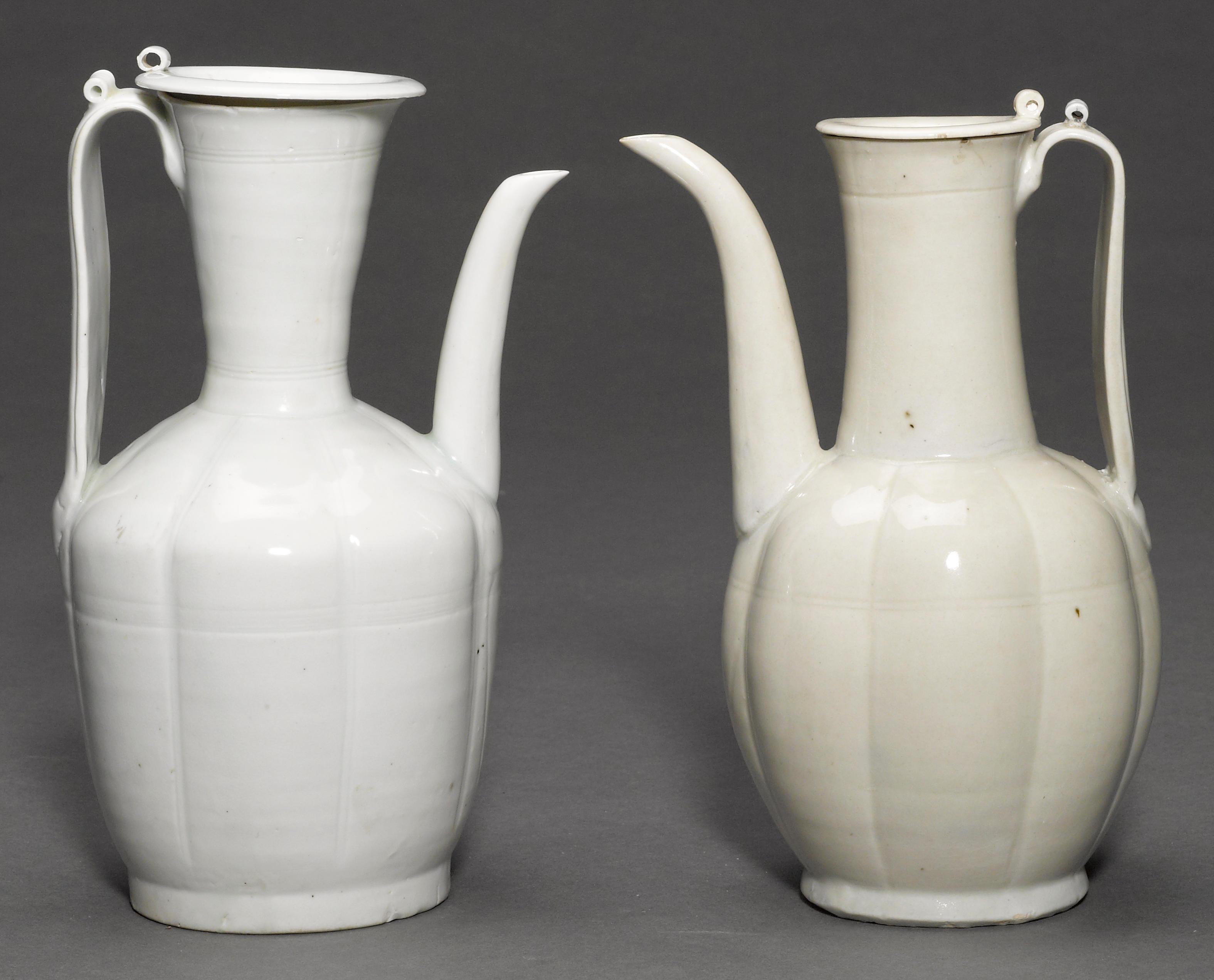 Two qingbai glazed porcelain covered ewers