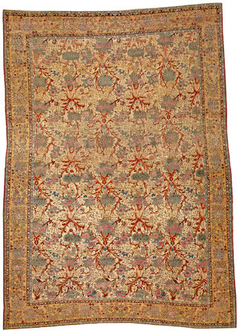 A Tehran carpet Central Persia size approximately 7ft. 1in. x 9ft. 10in.