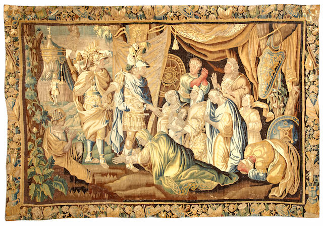 A Flemish tapestry Flanders size approximately 9ft. x 13ft. 1in.