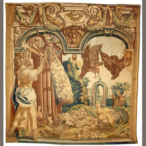 A Tapestry A Flemish tapestry size approximately 10ft. 6in. x 11ft. 3in.