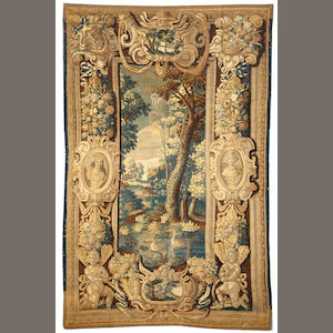 A Flemish tapestry Flanders size approximately 7ft. x 10ft. 10in.