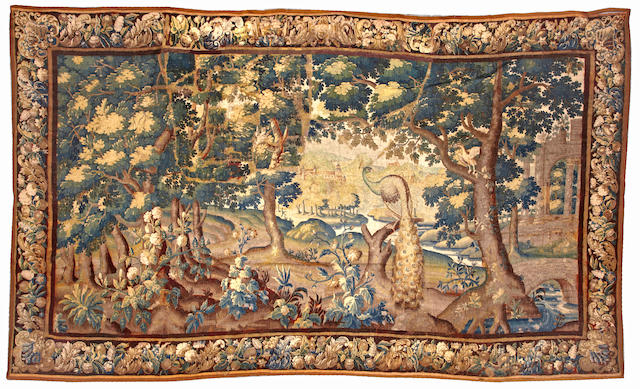 A Flemish tapestry Flanders, size approximately 9ft. 4in. x 15ft. 7in.