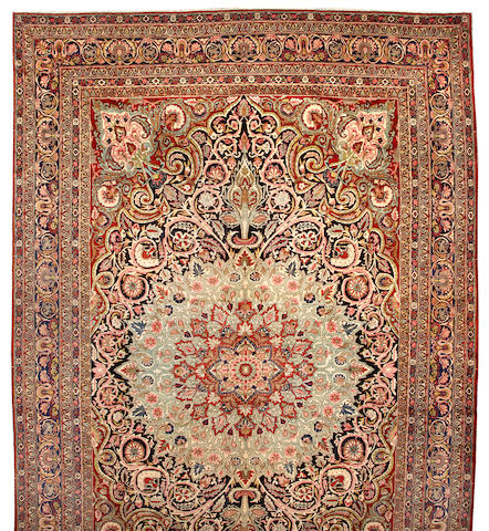 A Kerman carpet South Central Persia, size approximately 10ft. 3in. x 17ft.