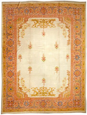 An Oushak carpet West Anatolia size approximately 13ft. x 17ft.
