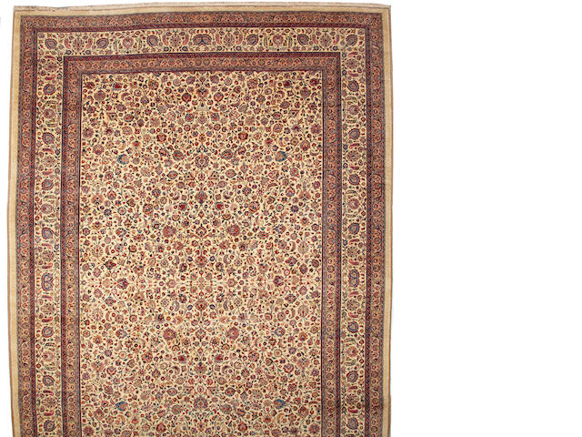 A Saber Meshed carpet  Northeast Persia size approximately 13ft. 3in. x 19ft. 3in.