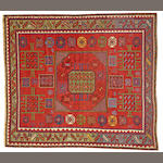 A Kazak rug Caucasus size approximately 6ft. 9in. x 7ft. 5in.