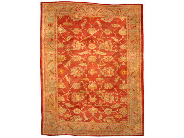 An Oushak carpet West Anatolia size approximately 11ft. 4in. x 14ft. 9in.