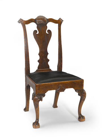 A Chippendale walnut chair <BR />probably Delaware valley<BR />circa 1760
